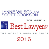 Lynne Wilson and Scott Cookson of Shuffield, Lowman & Wilson, P.A.  Named 2016 Best Lawyers in America