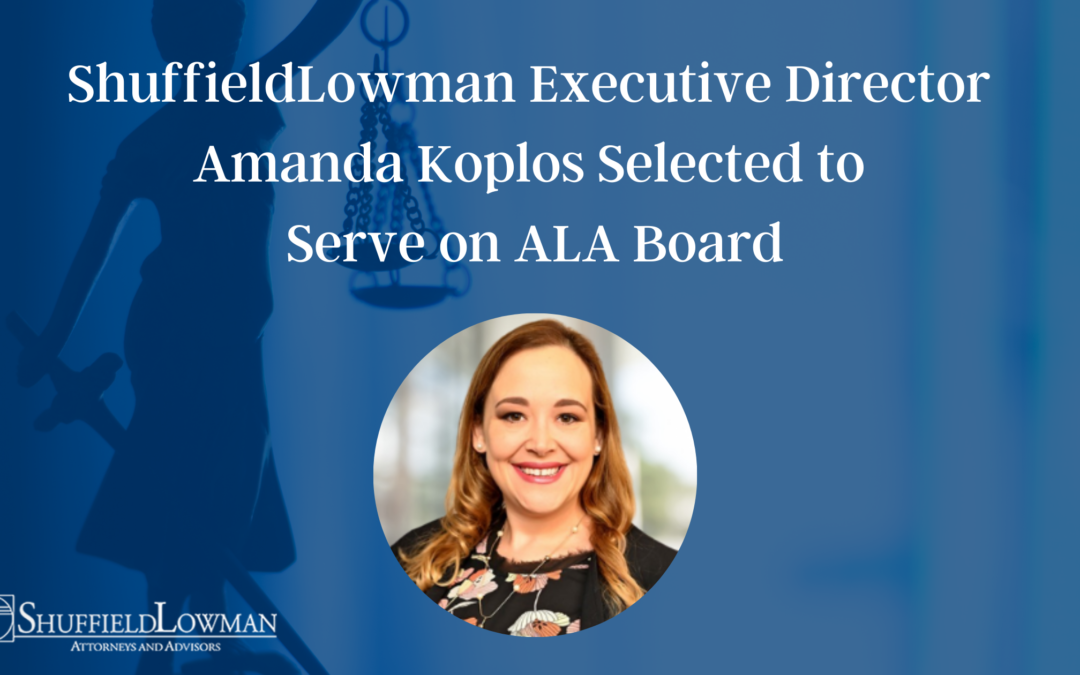 ShuffieldLowman Executive Director Amanda Koplos Selected to Serve on ALA Board